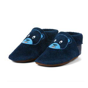 AFFENZAHN Babyschuh Leder Bär blau