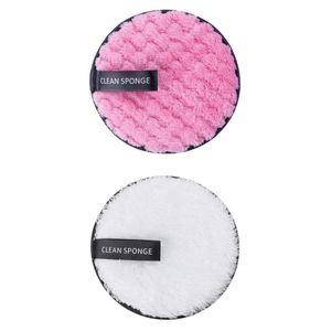 2 Stk. Waschbare Abschminkpads Wiederverwendbare Wattepads - Sanft Mikrofaser Makeup Entferner Pads für Gesicht Abwischung Stil 5