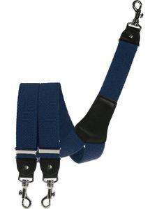 Extra starker Hosenträger mit Karabinerhaken, Größen:120 cm, Farben:blau