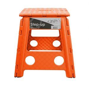 Stallhocker Schemel Hocker Klapptritt Trittschemel Klapphocker QHP Anti-Rutsch-Fläche faltbar ARBO-INOX® Farbe - Orange