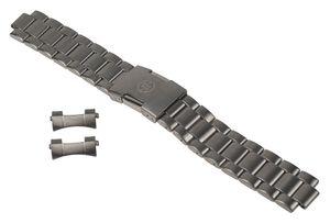 Timex Uhrenarmband Edelstahl 20mm massiv Titanfarben T49939