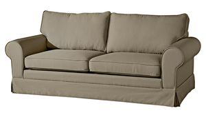 Max Winzer Hillary Sofa 3-Sitzer (2-geteilt) inkl. Zierkissen - Farbe: sahara - Maße: 202 cm x 89 cm x 85 cm; 2890-3880-1645253-KUN