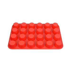 Backform 24-Cup Muffin Pfanne Silikon Antihaft Cupcake Back Küche rot wie beschrieben