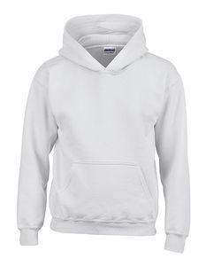 Gildan Uni Hoodie Heavy Blend™ Youth Hooded Sweatshirt 18500B Weiß White L (164)