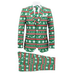 vidaXL 2-tlg. Weihnachtsanzug mit Krawatte Herren Größe 50 Grün