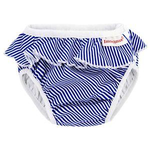Imse Vimse Schwimmwindel, Badewindel, White/Blue Stripes Frill Weiss blau gestreift mit Rüschen S (small) 5-8 kg