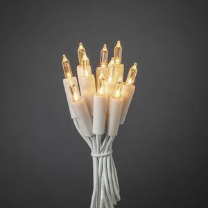 LED Minilichterkette - 10 warmweiße LED - L:1,35m - innen - Schalter - Kabel - weiß