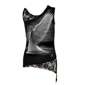 Spiral Girlie Top - Spirit Guide Shoulder Lace Vest M