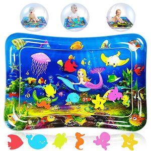 Aufblasbare Wassermatte Groß ohne Luftpumpe Wassermatte Baby Spielzeug Aufblasbare Bauchzeit Matte