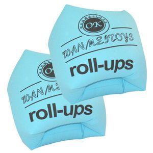 Schwimmtraining Aufblasbare Schwimmarmbänder, aufblasbare Armbänder Schwimmzubehör Schwimmärmel Armbinden für Kinder Kleinkinder Erwachsene -Blue