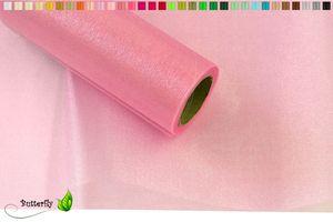 9m Rolle Organza 36cm SNOW, Farbauswahl:rosa 148