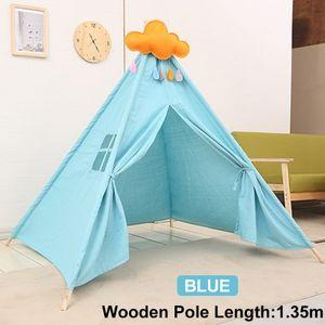 Blau 1.35M Tipi Teepee Indianerzelt Kinder Indianer Spielzelt Zelt Kinderzimmer Zelt