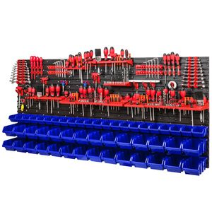 Stapelboxen Set 6x Wandregal Lagersystem 50 Boxen Halterungen 1728 x 780 mm