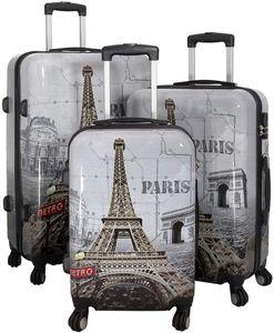 Monopol Kofferset Paris II 3-teilig bunt 36907 Koffer mit 4 Rollen