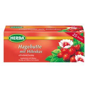 Herba Hagebuttentee mit Hibiskus erfrischend fruchtig 25 Beutel 50g