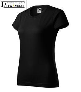 T-Shirt schwarz 2XL Damenshirt Furtwängler Classic 145g/m² verstärkte Schulterpartie Baumwolle