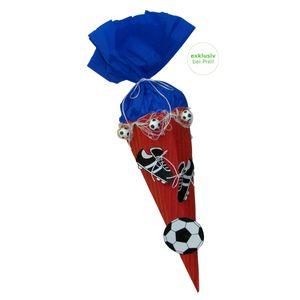 Schultüte Bastelset Fußball rot-blau
