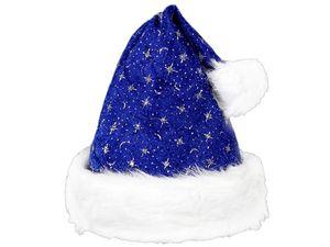 Weihnachtsmützen Nikolausmützen kuschelweich , Weihnachtsmütze wählen:wm-02 blau