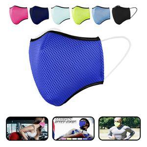 3D Sportmaske Behelfsmundschutz Atem Mund Nasen Maske Mundbedeckung Waschbar Neu, Farbe:Pink, Größe:M