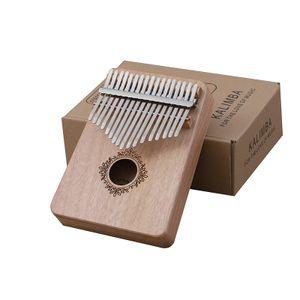Kalimba Daumen Klavier 17-Ton Anfaenger Einfuehrung Finger Klavier tragbares Musikinstrument Finger Klavier 17-Ton Schmetterling