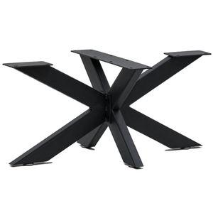 Zelsius Metall Tischbeine Kreuzgestell | 98 x 58 x 44,5 cm  | schwarz
