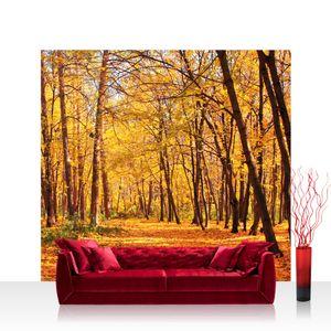 Textil Fototapete no. 0084 - 300X280 cm - Autumn Forest Herbstblätter Wald Bäume Baum Forest Herbst liwwing (R)