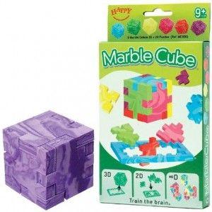 6er Pack Marble Cube von Happy Cube, 3D Puzzle Zauberwürfel