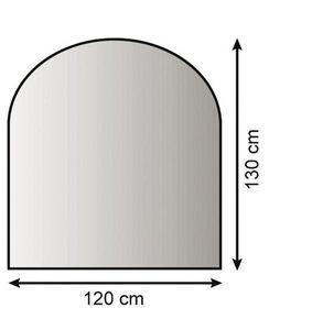 Funkenschutzplatte / Bodenblech Lienbacher schwarz halbrund 120x130cm
