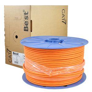 100 m CAT.7 Verlegekabel Duplex Netzwerkkabel Kupfer LAN 1000Mhz S/FTP6 BEST Cat
