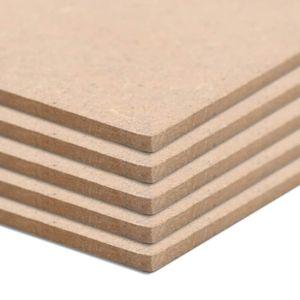 beraes MDF-Platten 10 Stück Rechteckig 120x60 cm 2,5 mm