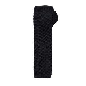 Premier Herren Krawatte mit Strick Muster RW5241 (Einheitsgröße) (Schwarz)
