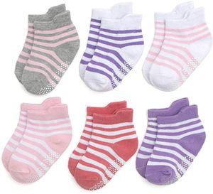 12 Paar Baby Socken Antirutsch Anti-Rutsch Kinder Kleinkinder Babysocken für Baby Jungen und Mädchen,0-12 Monate