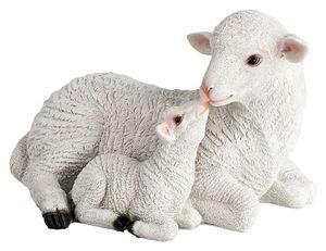 VERDOBA Polyresin Gartendekoration Schaf und Lamm