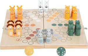 """small foot 11765 Ludo """"Safari"""", für sechs Spieler, mit Steppen-Tieren, klappbares Spielbrett, ab vier Jahren"""