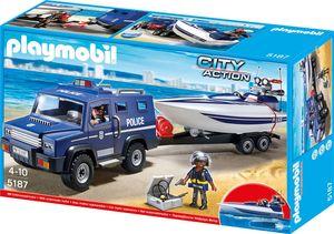 Playmobil 5187 Polizei-Action mit Truck und Speedboat