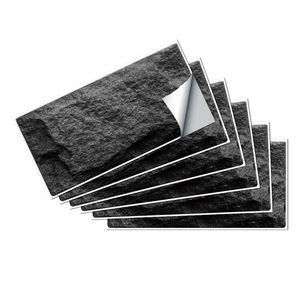 6/18/36 Stk. Fliesenaufkleber Badezimmer Wandaufkleber Selbstklebende Tapete,Farbe: Schwarz,Menge:18 Stücke