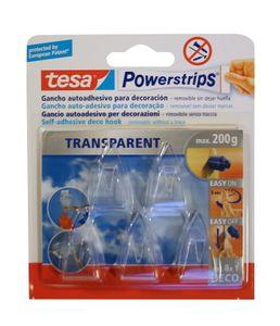 Tesa Powerstrips Wand Haken transparent Handtuchhalter Klebehaken Handtuchhaken