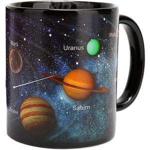 Farbwechsel Thermoeffekt Tasse,Sonnensystem Hitze Farbwechsel Tassen,Farbwechsel Kaffeetasse,Keramik Tassen-Becher,Astronomie-Enthusiasten Geschenke.