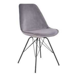 2x Esszimmerstuhl Olav Schalenstuhl grau schwarz Esszimmer Stuhl Set Küchenstuhl