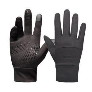 Fahrradhandschuhe Winter Handschuhe Damen Herren Sport Warm Touchscreen Laufen Arbeit Outdoor Gloves rutschfest Winddicht schwarz Fitness Camping Wandern Reiten Bergsteigen