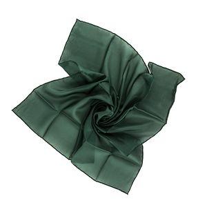 Nickituch Seidentuch grün waldgrün Seide 55x55cm