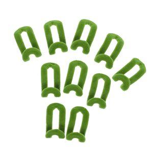 10Stk Anti Rutsch Samt Rack Mini Beflockung Kleiderhaken F. Kleiderbügel Grün
