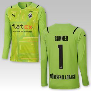 BMG Borussia Mönchengladbach Torwarttrikot Kinder 2021/22, Größe:164, Spielername:Sommer