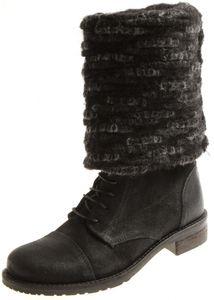 Timezone Luba 89203 Boots Damenschuhe Winter Wildleder Leder Wollstulpe