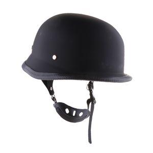 Motorrad Cruiser Vintage Half Helm Sonnenblende für Harley XL schwarz
