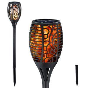LED Solar Gartenfackel Flamme Gartenlaterne Solarleuchte Gartendeko Wegeleuchte