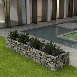 Gabionen-Hochbeet Garten-Hochbeet Hochbeet Stahl 360×90×50 cm
