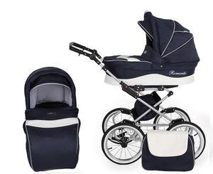 Kinderwagenset Romantik 2 in 1 – Kinderwagen, Sportwagen und Zubehör