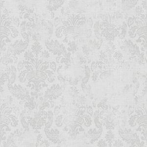 WOW - Medaillon Hellgrau - Vliestapete - 10m x 52cm