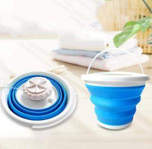 Mini-Waschmaschine mit faltbarer Badewanne, kleine tragbare Waschmaschine, 10 Liter, geeignet für Singles, geeignet für Studentenwohnheime